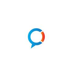 Round talk bubble sign logo vector