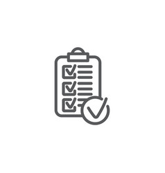 rules line icon on white background vector image