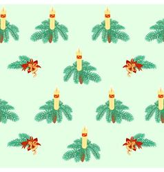 Seamless texture christmas candle vector