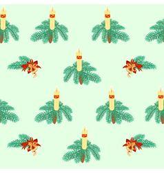 Seamless texture christmas candle vector