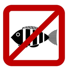 Sign prohibited fishing vector