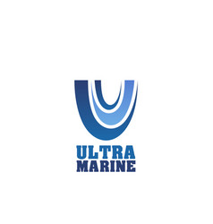 sign ultra marine vector image
