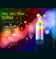 Skin serum toner template glass droplet bottle vector