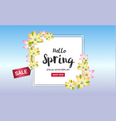 spring sales banner background or poster vector image