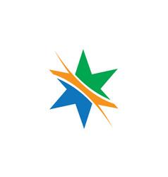 star abstract logo vector image