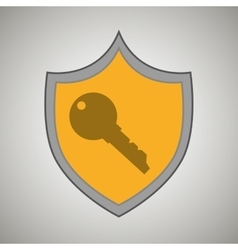 Symbol key safe yellow bakcground vector