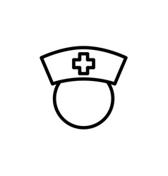 thin line nurse icon on white background vector image