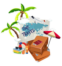 time to travel logo vector image