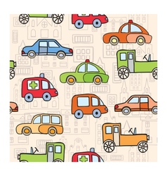 Transport in the style of cartoon vector image
