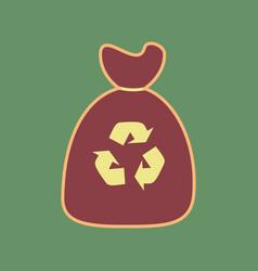 Trash bag icon cordovan icon and mellow vector