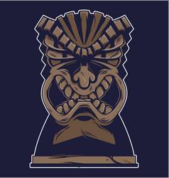 vintage hawaii tribal angry tiki mask vector image