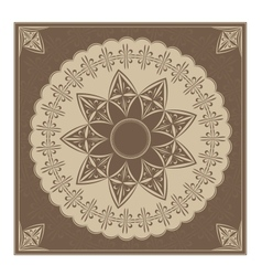 Vintage radial ornament vector