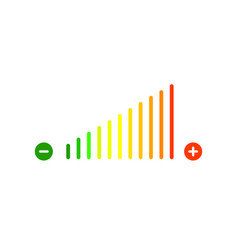 volume sign icon vector image
