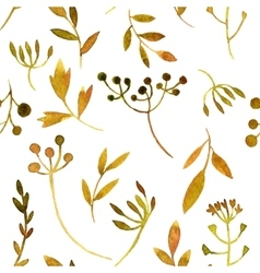 watercolor seamless pattern with leaves and vector image
