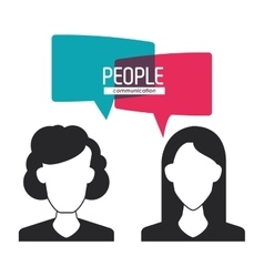 woman and bubble icon People design vector image