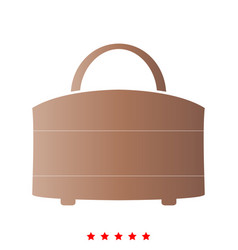 woman bag it is icon vector image
