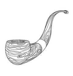 Wooden souvenir smoking pipe with mouthpiece vector
