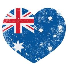 Australia retro heart flag vector image
