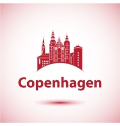 Copenhagen Denmark Nordic capital City skyline vector image