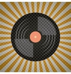 music vintage old popart vector image