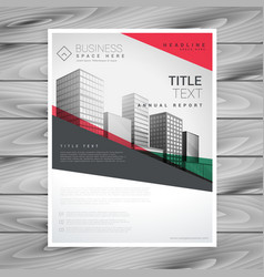 red geometric business flyer poster design vector image vector image