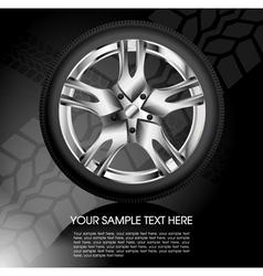 Shiny car wheel vector image vector image