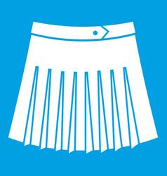 tennis female skirt icon white vector image