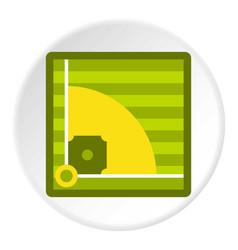 Baseball field icon circle vector
