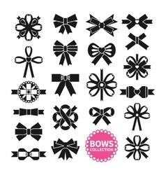 Black Bows Set vector image vector image