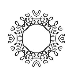 Black luxury monogram template vector image vector image
