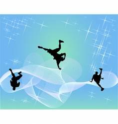 hip-hop dancers vector image vector image
