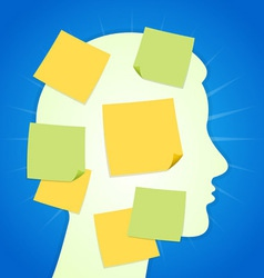 Paper Sticker on Blue Background vector image vector image