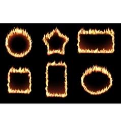 set of fire frames vector image vector image