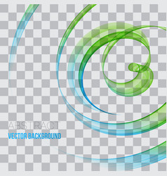 abstract background blue and green waved vector image