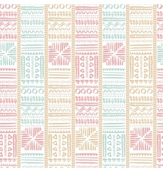 Abstract Seamless Pattern in Ethnic Style vector image