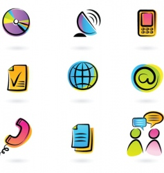 colorful icons vector image vector image