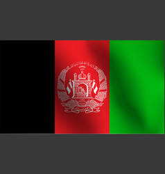 flag of afghanistan vector image vector image