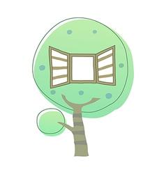 icon tree vector image