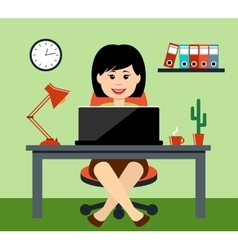 The woman at office vector image vector image