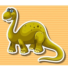 Brown dinosaur with happy face vector image