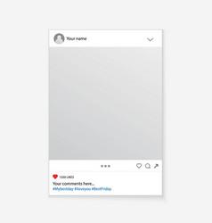 creative of social media photo vector image
