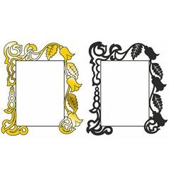 patten frame vector image vector image