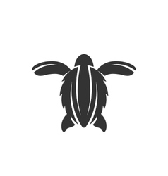 Sea turtle icon on a white background vector image vector image