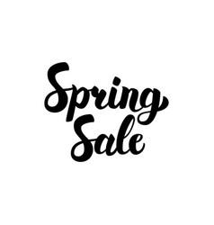 spring sale handwritten lettering vector image