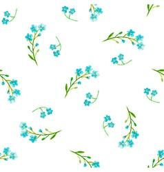 Watercolor blue flowers vector image