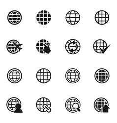 world an icon2 vector image vector image