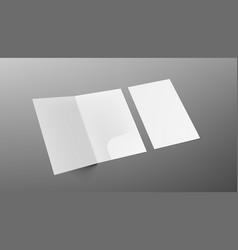 3d a4 size single pocket folder mock up isolated vector image
