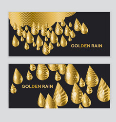 abstract golden drop pattern vector image