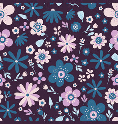 amazing floral seamless pattern of flowers vector image