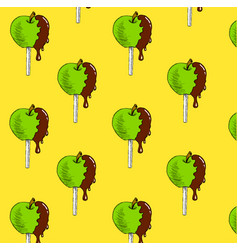 apple in chocolate vector image